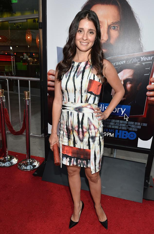 "Shiri Appleby arrives at the premiere of HBO Films' ""Clear History"" at ArcLight Cinemas Cinerama Dome on July 31, 2013 in Hollywood, California.o"