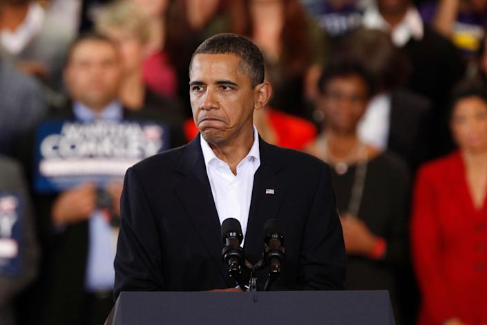 """Though the subject of marijuana legalization regularly ranks among the most popular at the digital town halls President Obama takes part in, he <a href=""""http://www.rawstory.com/rs/2011/07/06/askobama-twitter-town-hall-ignores-flood-of-marijuana-legalization-questions/"""">declines to address the issue</a> or give it a <a href=""""http://latimesblogs.latimes.com/technology/2009/03/obama-addresses.html"""">thoughtful answer</a>.   Incidentally, a younger Obama <a href=""""http://www.wusa9.com/news/article/229756/82/We-Need-To-Decriminalize-Our-Marijuana-Laws----Barack-Obama"""">supported marijuana decriminalization and a rethinking of the drug war</a>."""