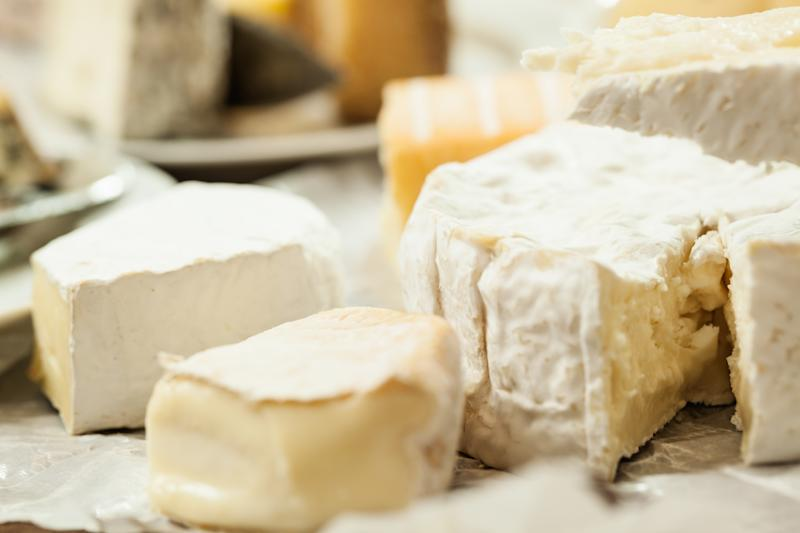 Soft cheese assortment: brie, camembert, melted cheese...