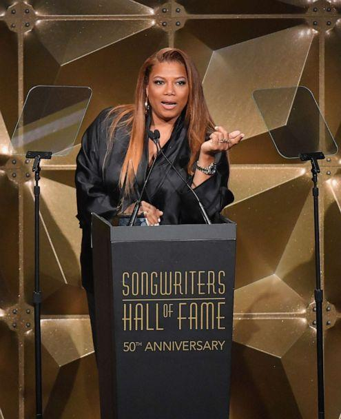 PHOTO: Rapper Queen Latifah performs onstage during the 2019 Songwriters Hall Of Fame Gala at The New York Marriott Marquis, June 13, 2019, in N.Y. (Angela Weiss/AFP/Getty Images)