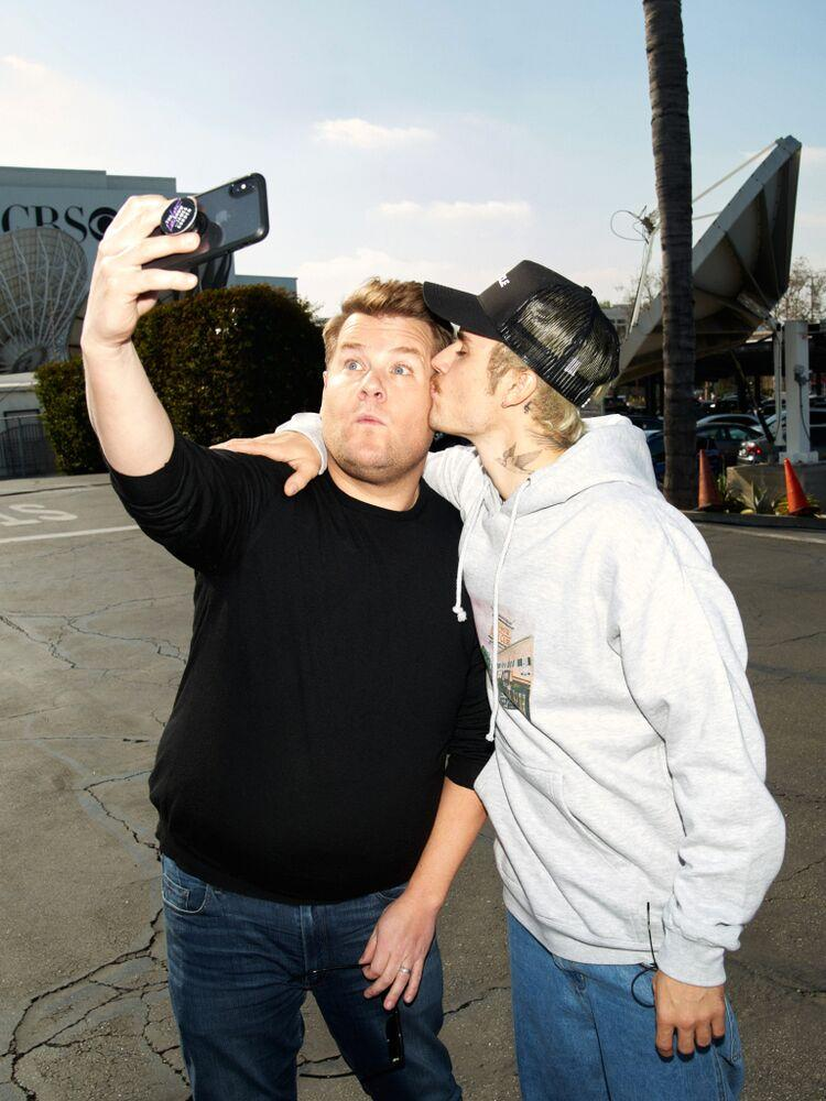 James Corden and Justin Bieber | Terence Patrick/CBS