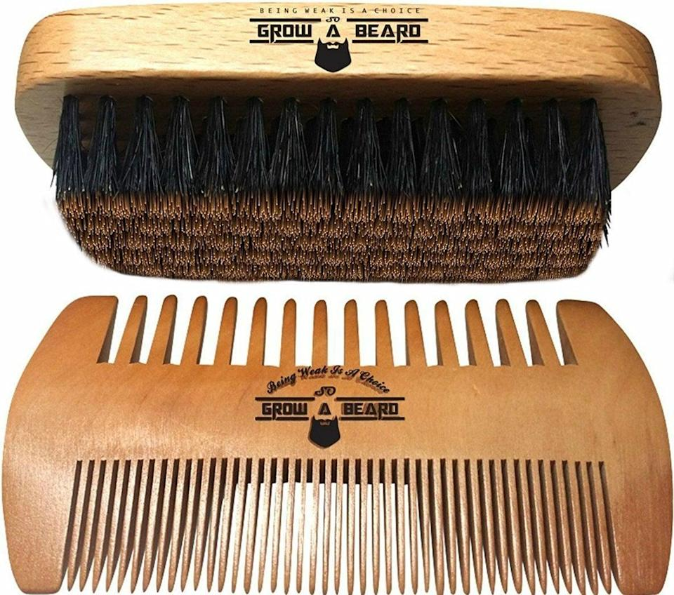 <p>To keep your man from looking too unruly, try putting the <span>Beard Brush and Comb Set</span> ($10) in his stocking. </p>