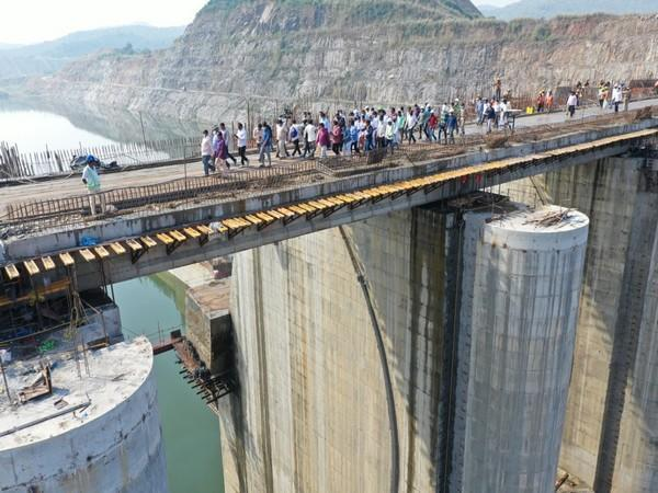 The Polavaram project is under construction in the West Godavari district of Andhra Pradesh (file pic/ANI).