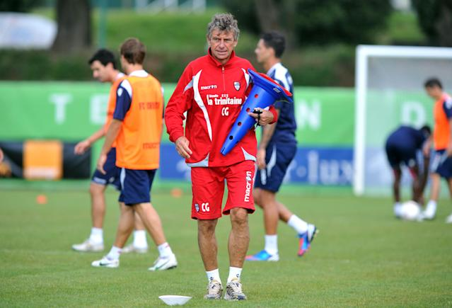 Lorient's head coach Christian Gourcuff takes part in a training session on August 7, 2012 at the Moustoir Stadium in Lorient, western France, prior the French Championship League 1 football matches beginning on August 10, 2012. FP PHOTO FRANK PERRYFRANK PERRY/AFP/GettyImages