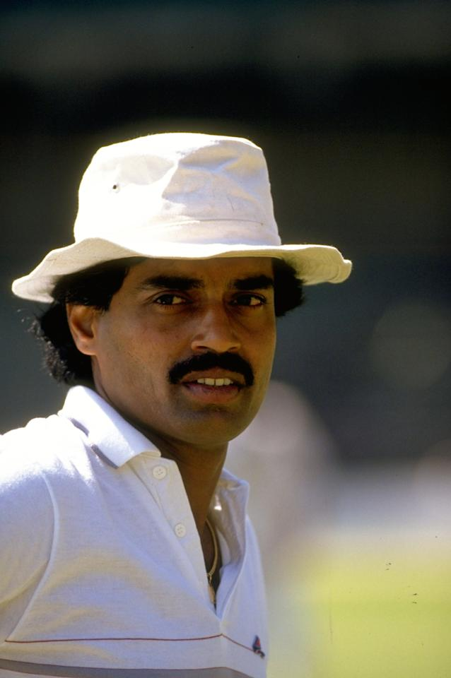 Nov 1988:  Portrait of Dilip Vengsarkar of India during the First Test match against New Zealand at Chinnaswamy Stadium in Bangalore, India. India won the match by 172 runs.  \ Mandatory Credit: Adrian  Murrell/Allsport