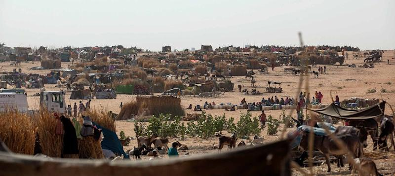 A picture released by UNAMID shows a general view of Zam Zam camp for internally displaced people, in North Darfur, on February 18, 2014, as they flee fighting between government and armed movements in the area of east Jebel Marra