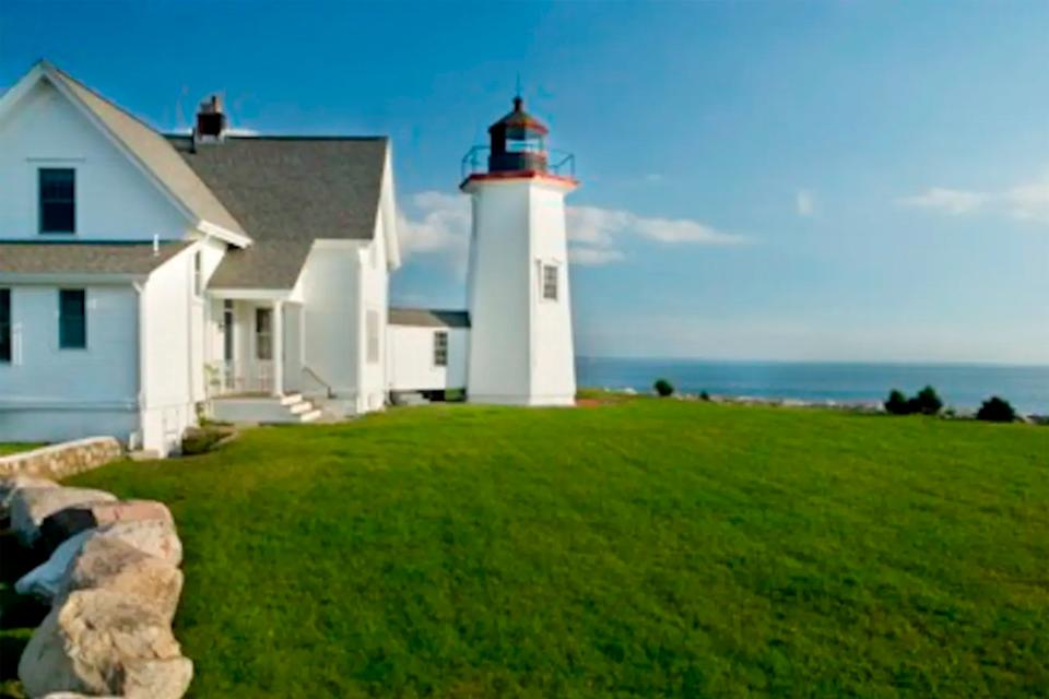 """<h2>Wings Neck Lighthouse</h2><br>Unique and historic, this Airbnb offers picturesque views of the Atlantic Ocean and a private beach to enjoy it — and yes, you <em>can</em> go up inside the lighthouse. The romantic getaway sleeps eight, so you can make it <a href=""""https://www.refinery29.com/en-us/romantic-hotels-worldwide"""" rel=""""nofollow noopener"""" target=""""_blank"""" data-ylk=""""slk:a couples' weekend"""" class=""""link rapid-noclick-resp"""">a couples' weekend</a> with your closest friends (as long as you trust that everyone has been quarantining and is <a href=""""https://www.refinery29.com/en-us/2020/03/9582955/where-coronavirus-test-shortage-usa"""" rel=""""nofollow noopener"""" target=""""_blank"""" data-ylk=""""slk:COVID-free"""" class=""""link rapid-noclick-resp"""">COVID-free</a>, of course).<br><br><strong>Location: </strong>Pocasset, MA<br><strong>Sleeps: </strong>8<br><strong>Price Per Night: </strong>$850<br><br><strong><a href=""""https://www.airbnb.com/rooms/723702"""" rel=""""nofollow noopener"""" target=""""_blank"""" data-ylk=""""slk:Book here"""" class=""""link rapid-noclick-resp"""">Book here</a></strong><span class=""""copyright"""">Photo: Courtesy of Airbnb.</span>"""