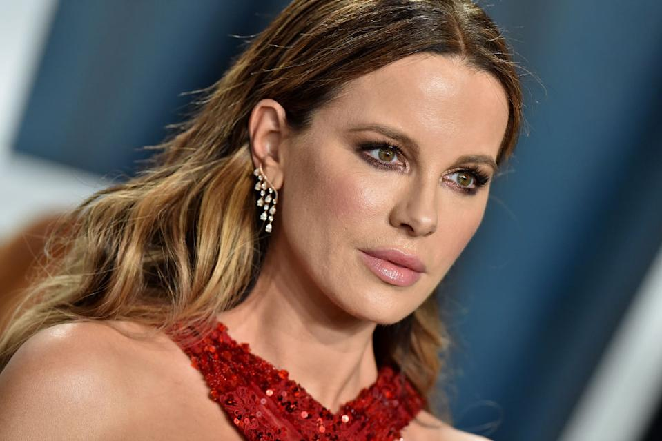 Kate Beckinsale has described the double standards men and women experience in a new interview, pictured here at the Vanity Fair after party in February 2020. (Getty Images)