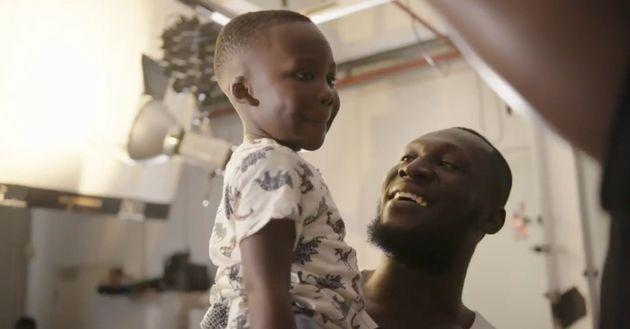 Stormzy and his nephew (Photo: Merlin Entertainments/Madame Tussauds)