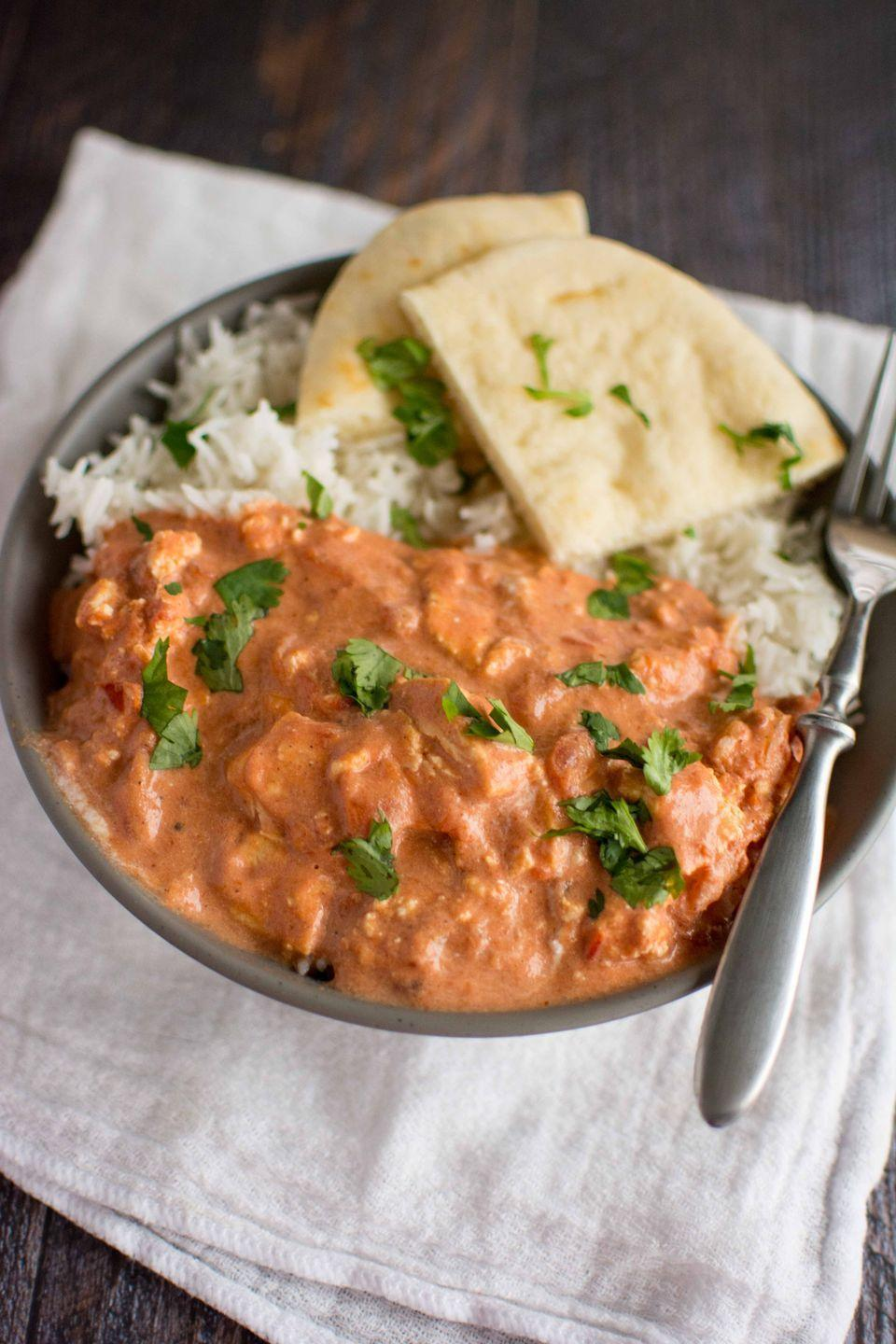 """<p>This sauce is everything.</p><p>Get the recipe from <a href=""""http://slowcookergourmet.net/slow-cooker-paneer-makhani/"""" rel=""""nofollow noopener"""" target=""""_blank"""" data-ylk=""""slk:Slow Cooker Gourmet"""" class=""""link rapid-noclick-resp"""">Slow Cooker Gourmet</a>.</p>"""