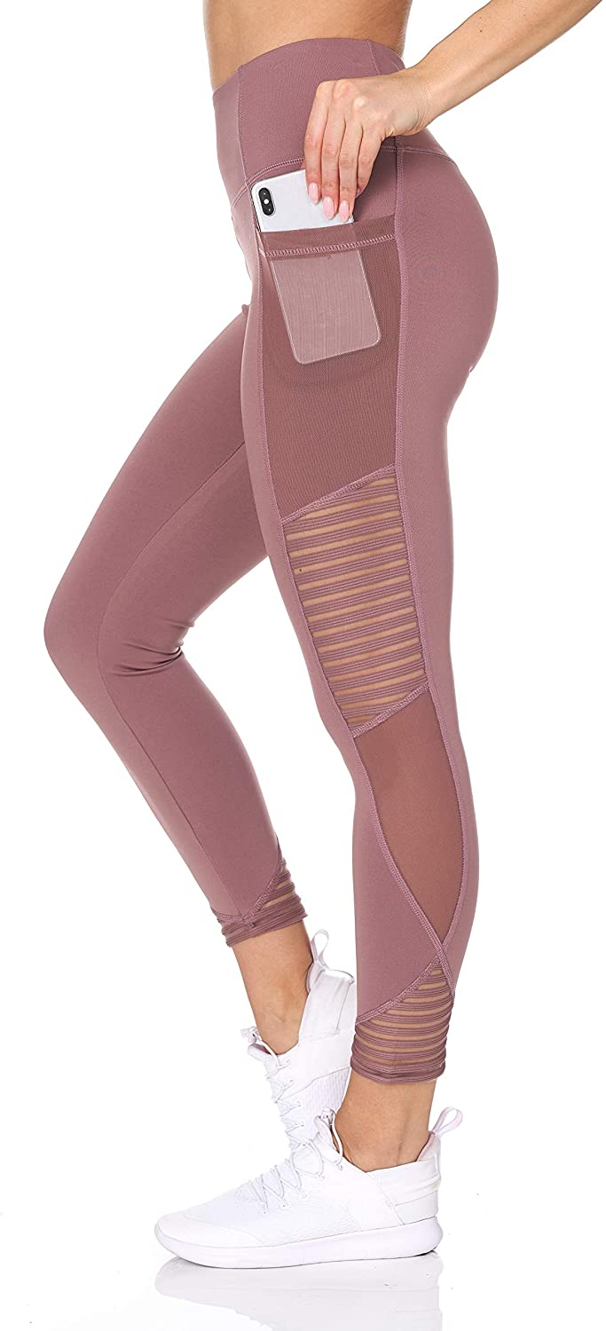 """<h3>BSP Better Sports Performance High-Waist Leggings </h3><br><br>This pair of Amazon's Choice leggings comes crafted with a stylish mesh detailing that not only flanks its sides, but also its deep pockets for peek-a-boo-style storage.<br><br><strong>BSP</strong> High Waist 7/8 Workout Pants with Mesh Pocket, $, available at <a href=""""https://amzn.to/369Cpa1"""" rel=""""nofollow noopener"""" target=""""_blank"""" data-ylk=""""slk:Amazon"""" class=""""link rapid-noclick-resp"""">Amazon</a>"""