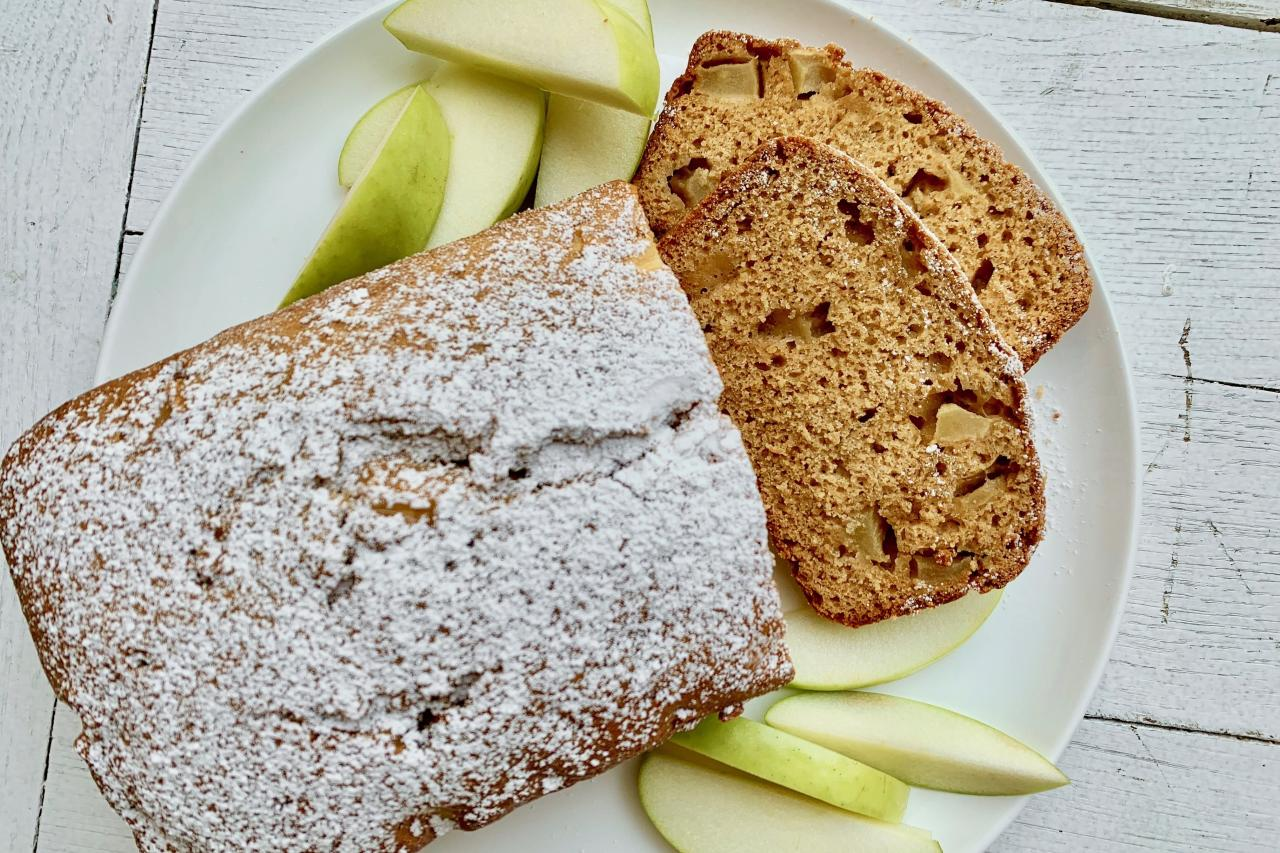 """<p><strong>Recipe: <a href=""""https://www.southernliving.com/recipes/apple-bread"""">Apple Bread</a></strong></p> <p>This sweet Apple Bread goes great with a cup of coffee or, for dessert, a scoop of ice cream.</p>"""