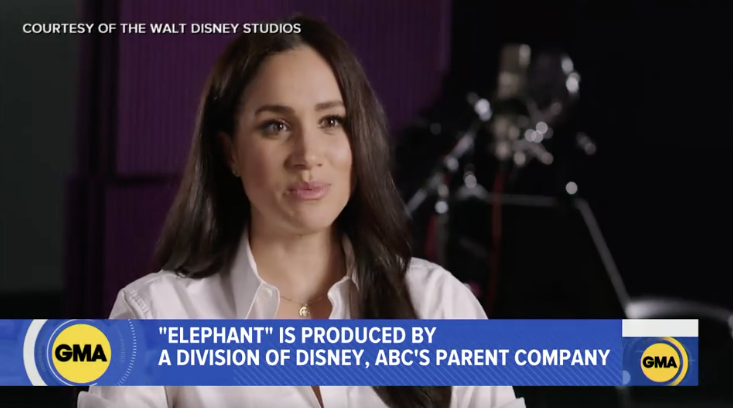 The Duchess of Sussex filmed an interview, in 2019, to promote the Disney documentary she narrates. (Good Morning America)