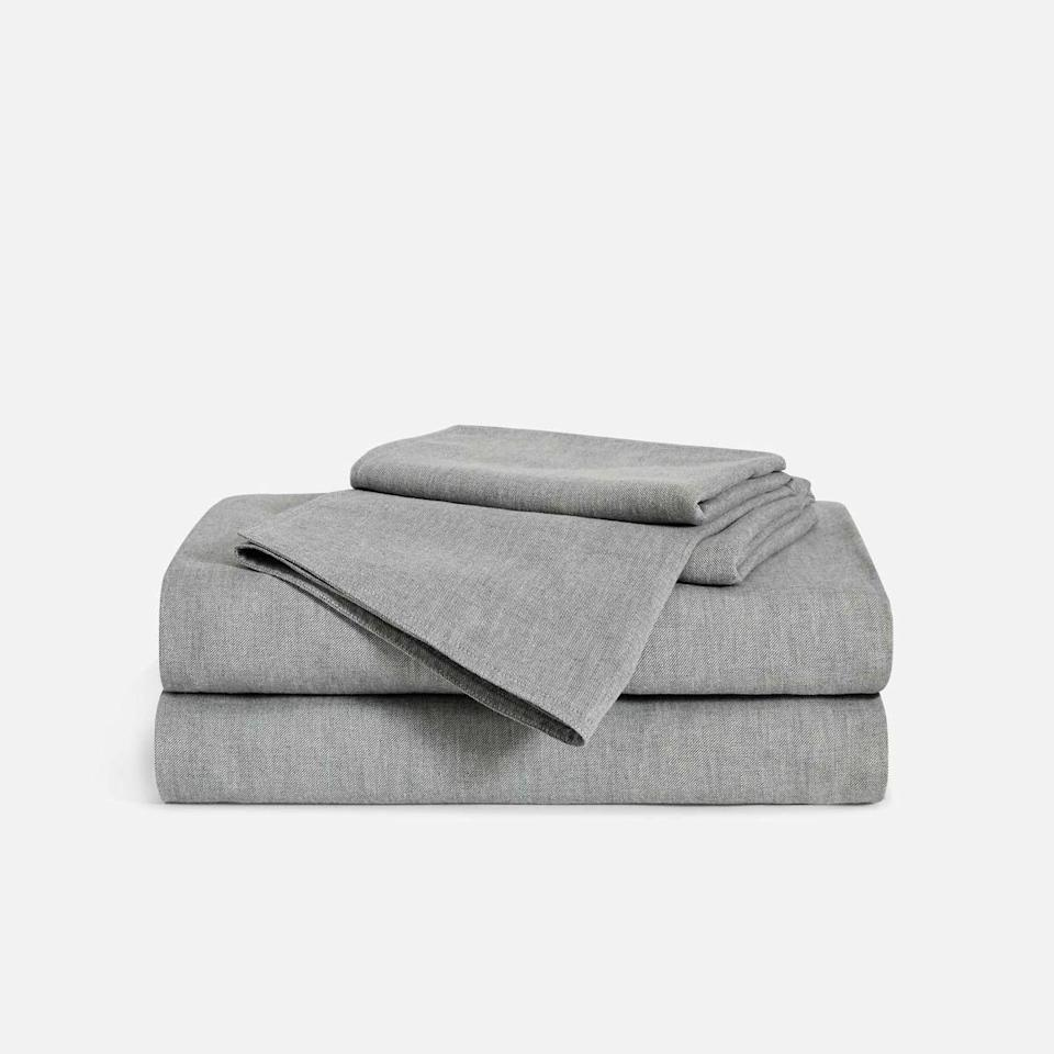 """<p><strong>Brooklinen</strong></p><p>brooklinen.com</p><p><strong>$237.15</strong></p><p><a href=""""https://go.redirectingat.com?id=74968X1596630&url=https%3A%2F%2Fwww.brooklinen.com%2Fproducts%2Fheathered-cashmere-core-sheet-set&sref=https%3A%2F%2Fwww.goodhousekeeping.com%2Flife%2Fmoney%2Fg34359818%2Fbrooklinen-amazon-prime-day-sale-2020%2F"""" rel=""""nofollow noopener"""" target=""""_blank"""" data-ylk=""""slk:Shop Now"""" class=""""link rapid-noclick-resp"""">Shop Now</a></p><p>If you want to stay warm during the colder months ahead, pick up a set of Brooklinen's cashmere sheets. It's like the bedding equivalent of your favorite cozy sweater.</p>"""