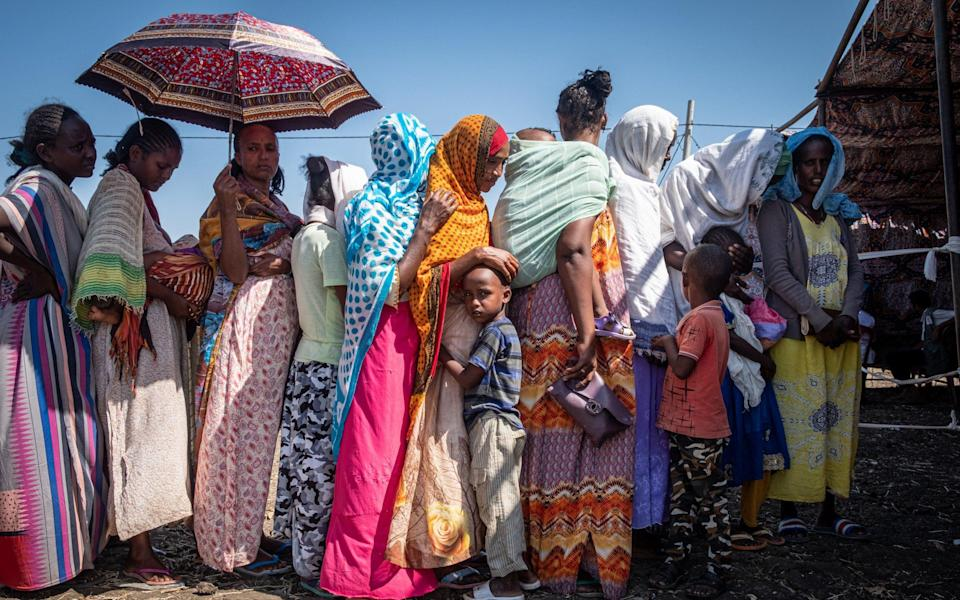 Refugees at a settlement in Sudan - Joost Bastmeijer