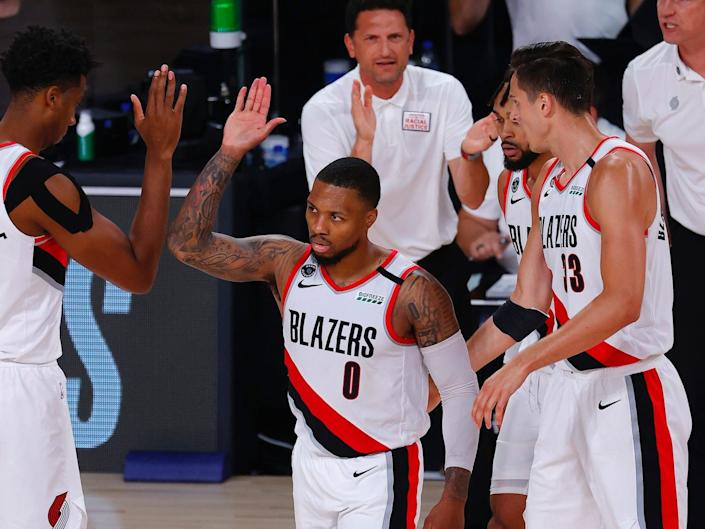Damian Lillard and the Blazers are 2-1 in the bubble.