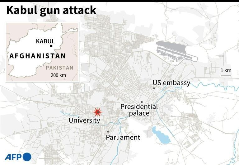 The Islamic State group claimed responsibility for the Kabul University attack