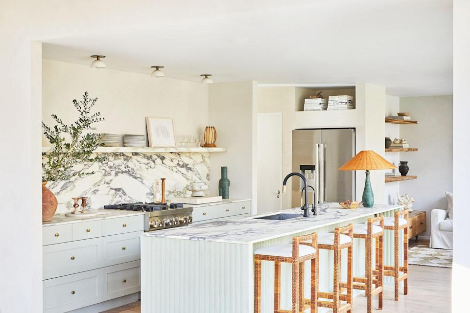 "<p>The <a href=""https://www.housebeautiful.com/room-decorating/kitchens/g9/outdoor-kitchen-design-ideas-0511/?slide=11"" rel=""nofollow noopener"" target=""_blank"" data-ylk=""slk:kitchen"" class=""link rapid-noclick-resp"">kitchen</a> is probably the most used room in your house, so you want it to be a space you enjoy spending time in. And aside from functioning appliances, a kitchen design you'll love for years to come is of utmost importance. So whether you're <a href=""https://www.housebeautiful.com/home-remodeling/g3813/kitchen-makeovers/"" rel=""nofollow noopener"" target=""_blank"" data-ylk=""slk:renovating"" class=""link rapid-noclick-resp"">renovating</a> or simply looking for some inspiration, we found 90 <a href=""https://www.housebeautiful.com/room-decorating/kitchens/g1566/best-kitchen-paint-colors"" rel=""nofollow noopener"" target=""_blank"" data-ylk=""slk:kitchen design ideas"" class=""link rapid-noclick-resp"">kitchen design ideas</a> that will help you optimize your own—and the best lessons to take from them. From country casual to sleek and modern—and literally everything in between–we've got all the <span class=""redactor-unlink""><a href=""https://www.housebeautiful.com/room-decorating/kitchens/"" rel=""nofollow noopener"" target=""_blank"" data-ylk=""slk:kitchen remodel inspiration"" class=""link rapid-noclick-resp"">kitchen remodel inspiration</a></span> you could ever need. Gorgeous countertops, unique backsplashes, and statement lighting, we're coming for you. </p>"
