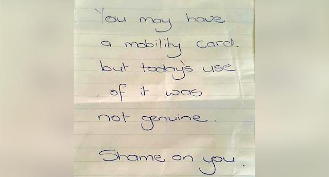 When they returned to the car, nine-year-old Jack was devastated to find the crushing note. Source: Caters