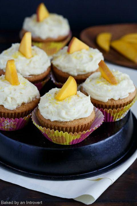 """<p>Both the cake and the buttercream yield a lovely mango flavor in these fruity cupcakes.</p><p><strong><a href=""""http://www.bakedbyanintrovert.com/mango-cupcakes-mango-buttercream-recipe/#_a5y_p=5121226"""" rel=""""nofollow noopener"""" target=""""_blank"""" data-ylk=""""slk:Get the recipe at Baked by an Introvert."""" class=""""link rapid-noclick-resp"""">Get the recipe at Baked by an Introvert.</a></strong></p>"""