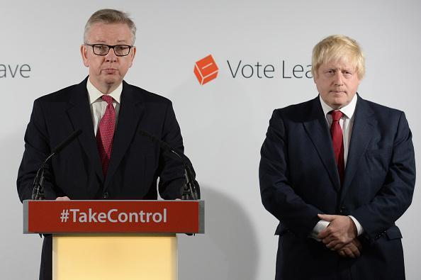 Brexit: Michael Gove and Boris Johnson MP following the results of the EU referendum (Getty Images)