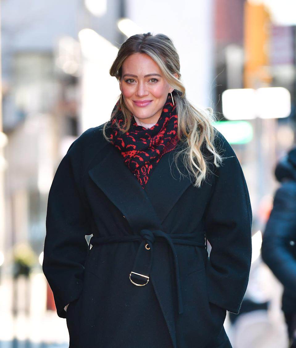 Hilary Duff showed off her pricey skincare routine from Perricone MD. (Photo by James Devaney/GC Images)