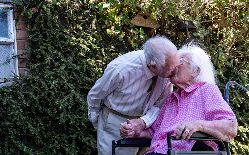 Happy 80th wedding anniversary! (SWNS)