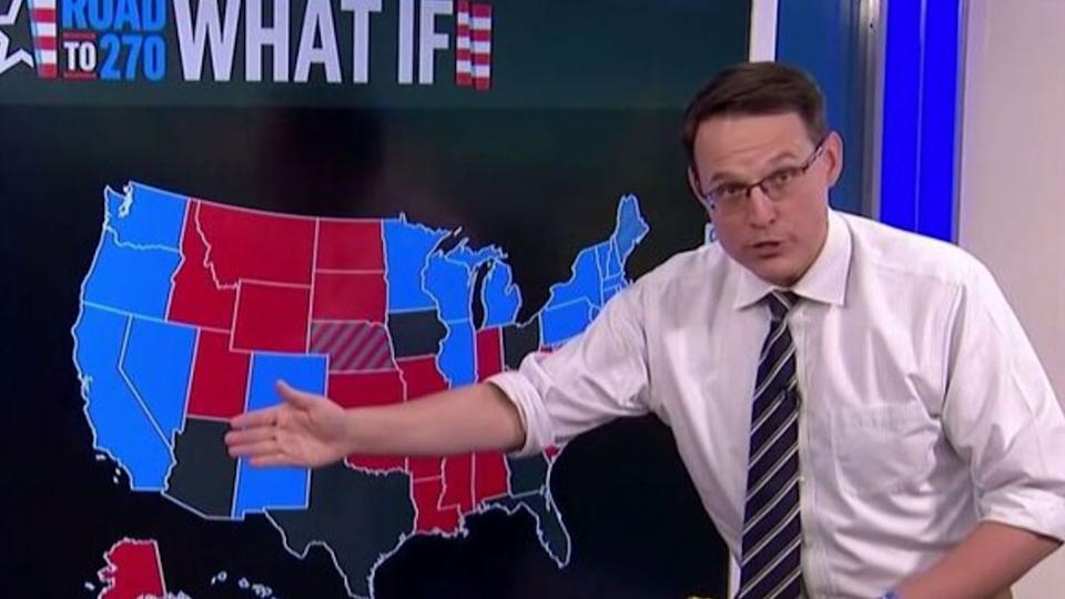 Political correspondent Steve Kornacki has been praised for his relentless election coverage. Source: MSNBC