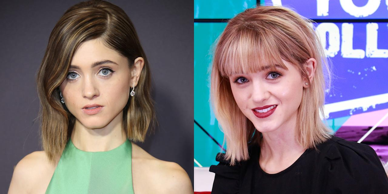 <p>The <em>Stranger Things </em>actress goes blond with bangs right before the second season of her Netflix show premieres.</p>
