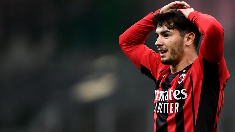 Brahim Diaz of AC Milan looks dejected during the Serie A...   Nicolò Campo/Getty Images