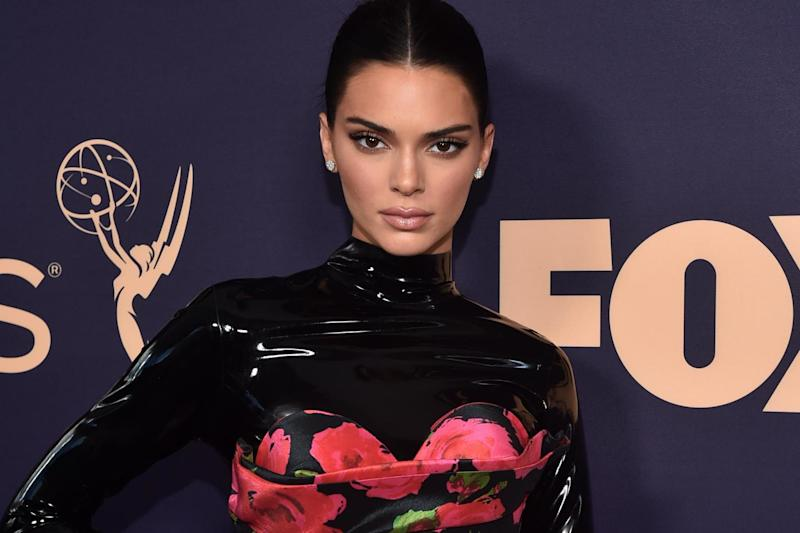 Kendall Jenner in Richard Quinn: Getty Images