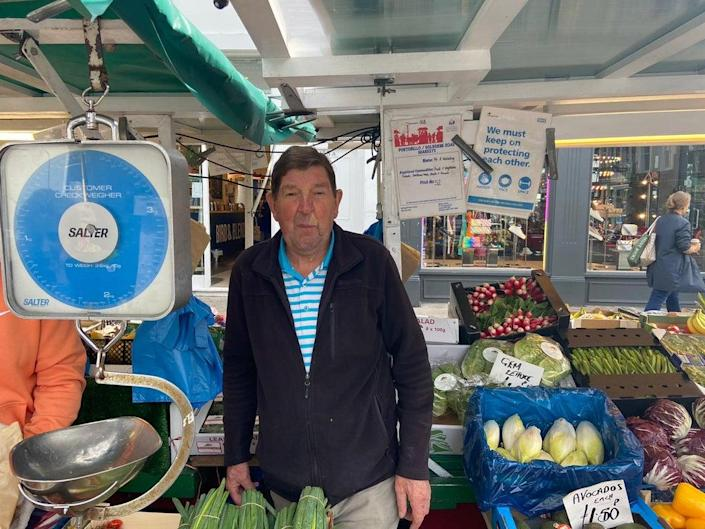 Alan Wakeling, who has been a stallholder for 50 years, believes the imperial measurement will 'phase out' (supplied)