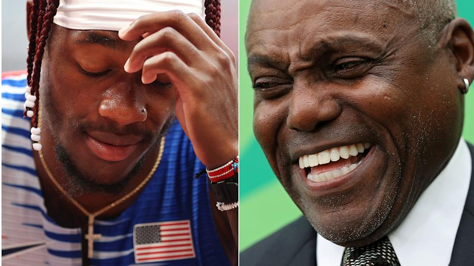 Carl Lewis did not hold back with his criticism for the U.S. 4x100m relay team. (Photos via Getty)