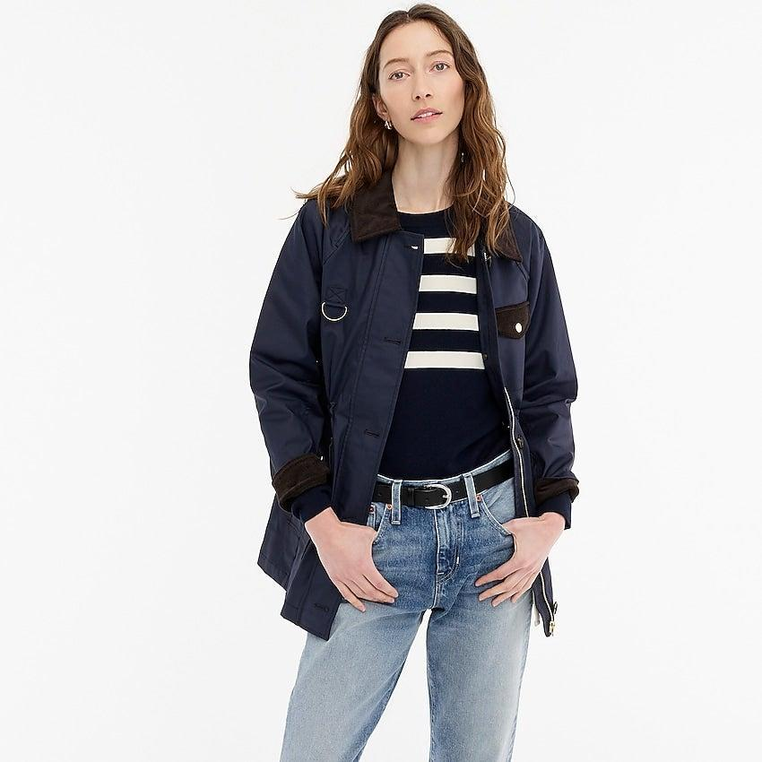 """<br><br><strong>J. Crew</strong> Classic field jacket, $, available at <a href=""""https://go.skimresources.com/?id=30283X879131&url=https%3A%2F%2Fwww.jcrew.com%2Fp%2Fwomens%2Fcategories%2Fclothing%2Fcoats-and-jackets%2Flightweight-jacket%2Fclassic-field-jacket%2FAW104%3Fdisplay%3Dsale%26fit%3DClassic%26isFromSale%3Dtrue%26color_name%3Dnavy%26colorProductCode%3DAW104"""" rel=""""nofollow noopener"""" target=""""_blank"""" data-ylk=""""slk:J. Crew"""" class=""""link rapid-noclick-resp"""">J. Crew</a>"""