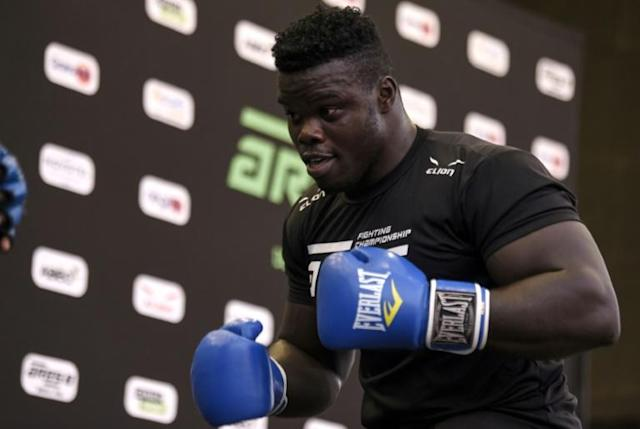Reug Reug is a superstar of Senegalese wrestling who is hoping to make the transition to the highly lucrative world of MMA (AFP Photo/SEYLLOU)