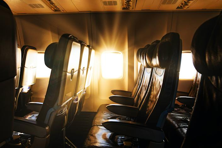 "<h1 class=""title"">Travel ban. Quarantine countries and closing borders in the world.</h1> <div class=""caption""> A nearly empty airline interior pictured during the COVID-19 lockdown. </div> <cite class=""credit"">Photo: Anton Petrus / Via Getty Images</cite>"