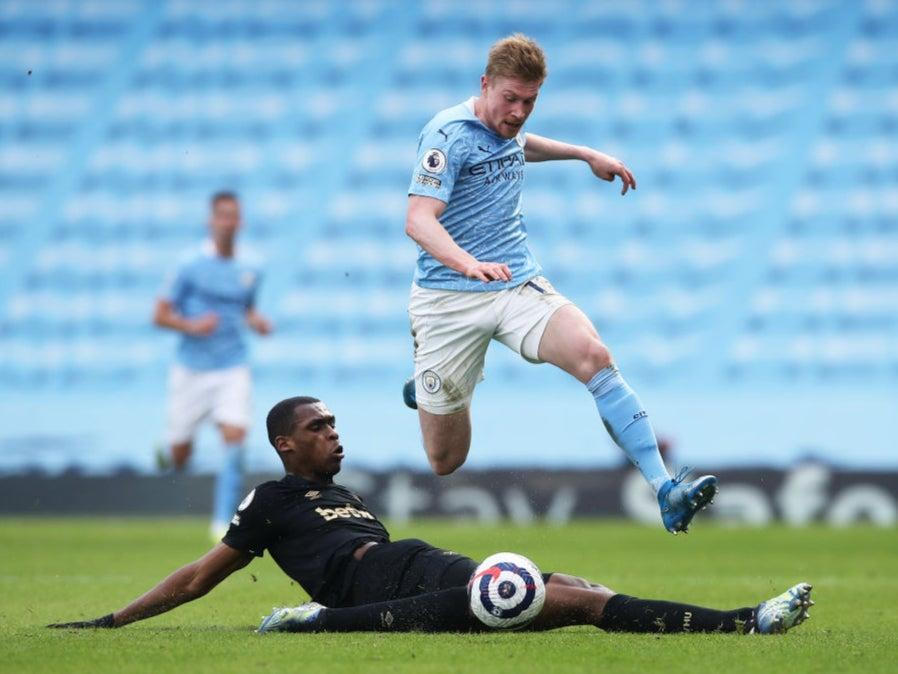 Kevin De Bruyne in actionGetty Images
