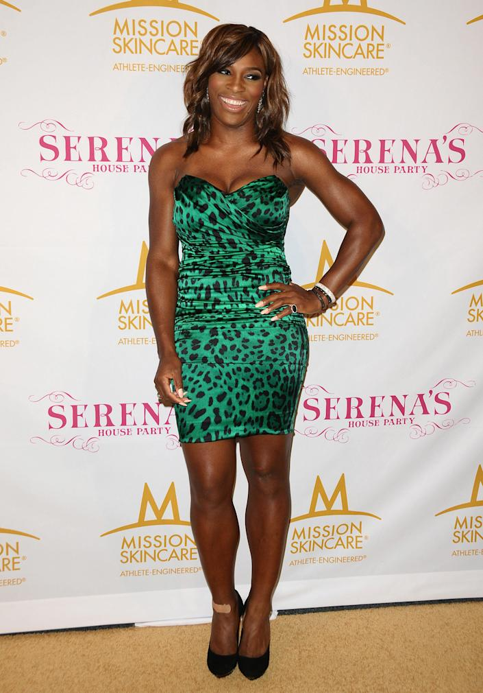 Serena Williams attends a pre-ESPYs party on July 12, 2010 in Los Angeles, California.