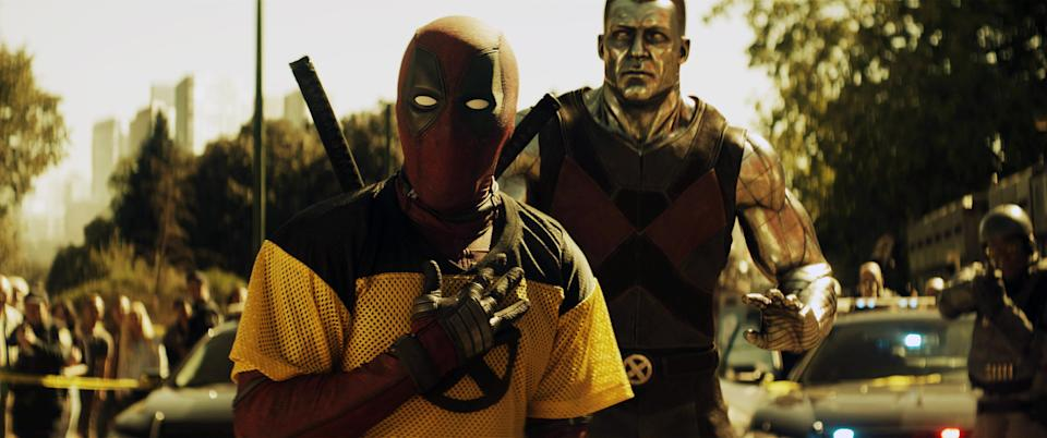 Ryan Reynolds as Deadpool and Stefan Kapicic as Colossus in 'Deadpool 2' (Photo Credit: 20th Century Fox Film Corp/Courtesy Everett Collection)