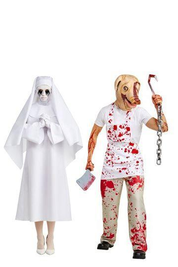 """<p><em>AHS</em> fans out there will go wild for these show-themed costumes. They are both so scary individually, that together they are sure to make people scream. </p><p><strong><a class=""""link rapid-noclick-resp"""" href=""""https://www.amazon.com/LF-Products-Pte-Ltd-Character/dp/B0753JW4RR/?tag=syn-yahoo-20&ascsubtag=%5Bartid%7C10070.g.28669645%5Bsrc%7Cyahoo-us"""" rel=""""nofollow noopener"""" target=""""_blank"""" data-ylk=""""slk:Shop Women's Costume"""">Shop Women's Costume</a></strong></p><p><strong><a class=""""link rapid-noclick-resp"""" href=""""https://www.amazon.com/Palamon-American-Horror-Story-Costume/dp/B0767HZ6C9?tag=syn-yahoo-20&ascsubtag=%5Bartid%7C10070.g.28669645%5Bsrc%7Cyahoo-us"""" rel=""""nofollow noopener"""" target=""""_blank"""" data-ylk=""""slk:Shop Men's Costume"""">Shop Men's Costume</a><br></strong></p>"""
