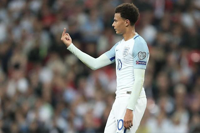 Fifa give Dele Alli one-game ban for middle-finger gesture in World Cup qualifier against Slovakia