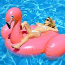 <p>You can't go wrong with this bright-pink <span>Turnmeon Large Inflatable Flamingo Pool Float</span> ($42).</p>