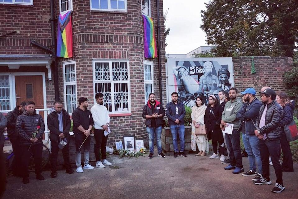 A vigil was held at Tower Hamlets Cemetery Park (Let Voice Be Heard)