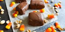 """<p>If Butterfingers are one of your favorite Halloween candies, it's about time to try your hand at making them in your own kitchen. </p><p><strong><em>Get the recipe at <a href=""""https://www.thepioneerwoman.com/food-cooking/recipes/a99509/homemade-butterfingers/"""" rel=""""nofollow noopener"""" target=""""_blank"""" data-ylk=""""slk:The Pioneer Woman"""" class=""""link rapid-noclick-resp"""">The Pioneer Woman</a>. </em></strong></p>"""