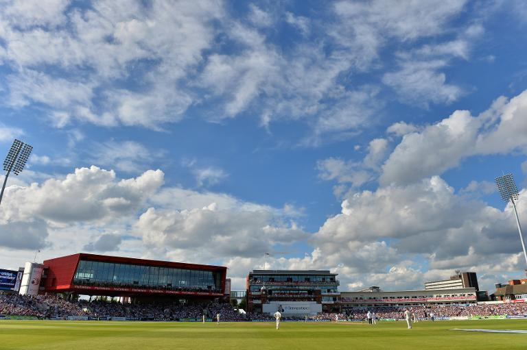 A general view of the ground in the late afternoon sunshine at Old Trafford in Manchester, England on August 3, 2013 (AFP Photo/Andrew Yates)