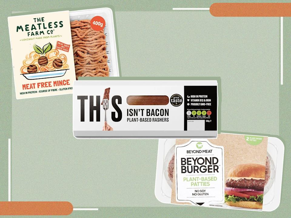 <p>The meat-free market now covers everything from plant-based burgers to sausages, chicken pieces, bacon and charcuterie</p> (The Independent/iStock)