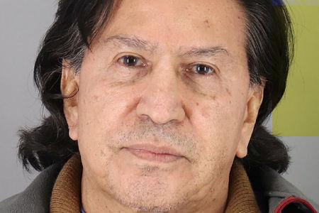 Peru's former president Alejandro Toledo Manrique poses in a police booking photo at San Mateo County jail in Redwood City, California, U.S. in this handout photograph released on March 18, 2019. San Mateo County Sheriff's Office/Handout via REUTERS
