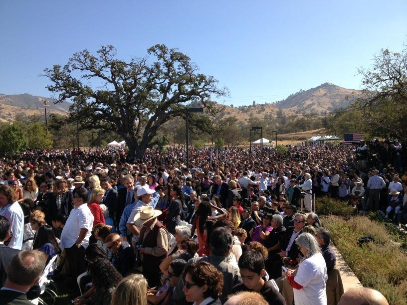 Some of the crowd at Pres Obama's Cesar Chavez event in Keene, CA.
