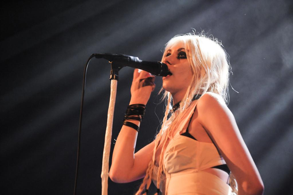 Singer Taylor Momsen performs at the Trianon in Paris
