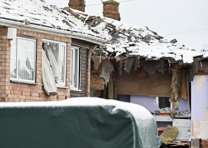 Three people were injured by the blast (Picture: PA)